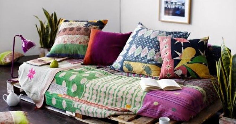 Creare un coloratissimo angolo relax in stile boho chic - Creare un divano ...