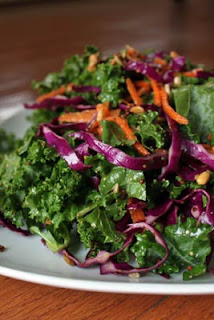 Kale Salad with cabbage and carrots