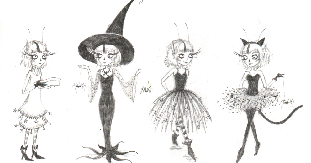 Victoria Stitch: Halloween costumes and some drawing