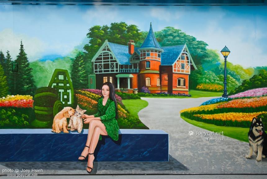 彰化 彩繪社區 忠權社區 北極宮 彩繪牆