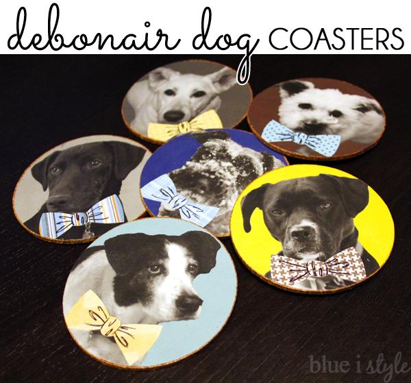 Debonair Dog Bowtie Coasters