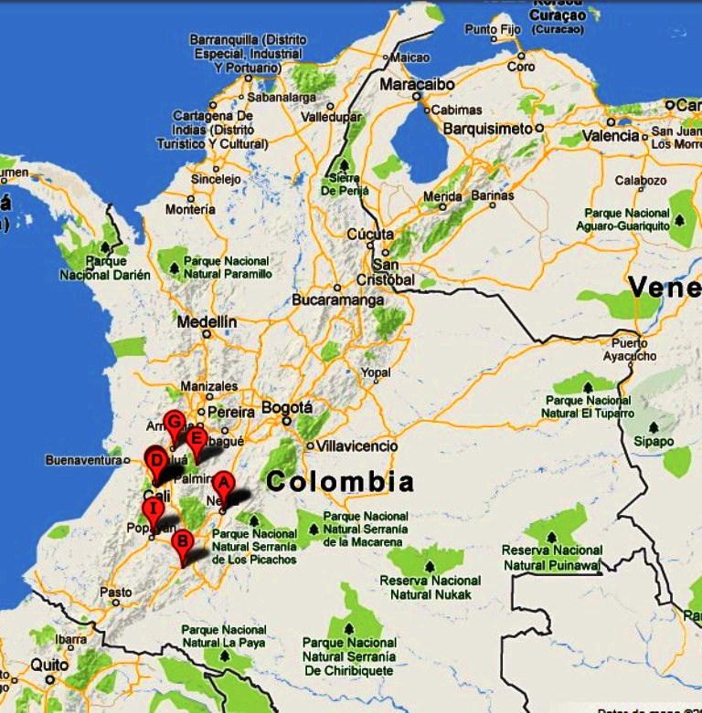 arte, cultura y turismo: mapa vial actualizado colombia