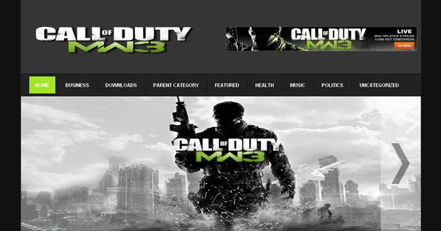 FREE Call of Duty MW3 Blogger Template