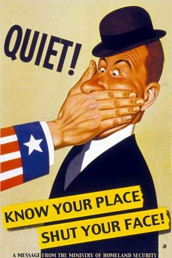 WWII propaganda. Quiet! Know your place shut your face / Молчи! Знай своё место - заткнись!