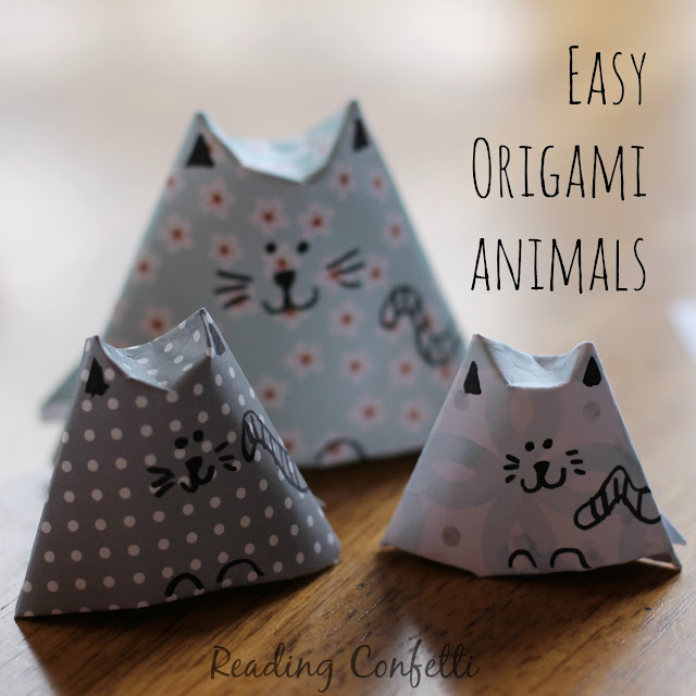 These origami animals are so easy that kids can make them without help.