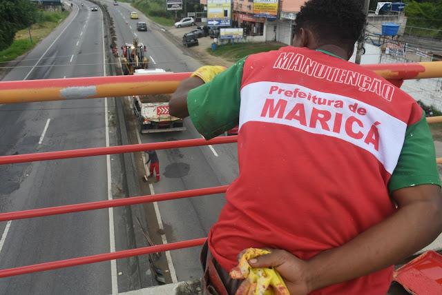 Prefeitura de Maricá trabalha na conservação de estradas de responsabilidade do Estado