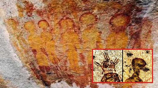 Arqueólogos de la India piden ayuda a la NASA para investigar pinturas de ovnis y extraterrestres