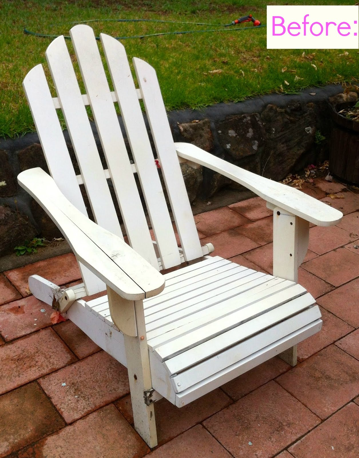 Giggleberry Creations!: Wooden Beach Chair Makeover!