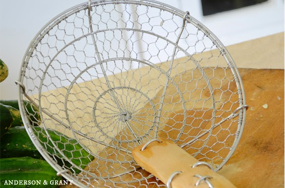 Must have kitchen tool.....Bamboo Spider Strainer | www.andersonandgrant.com