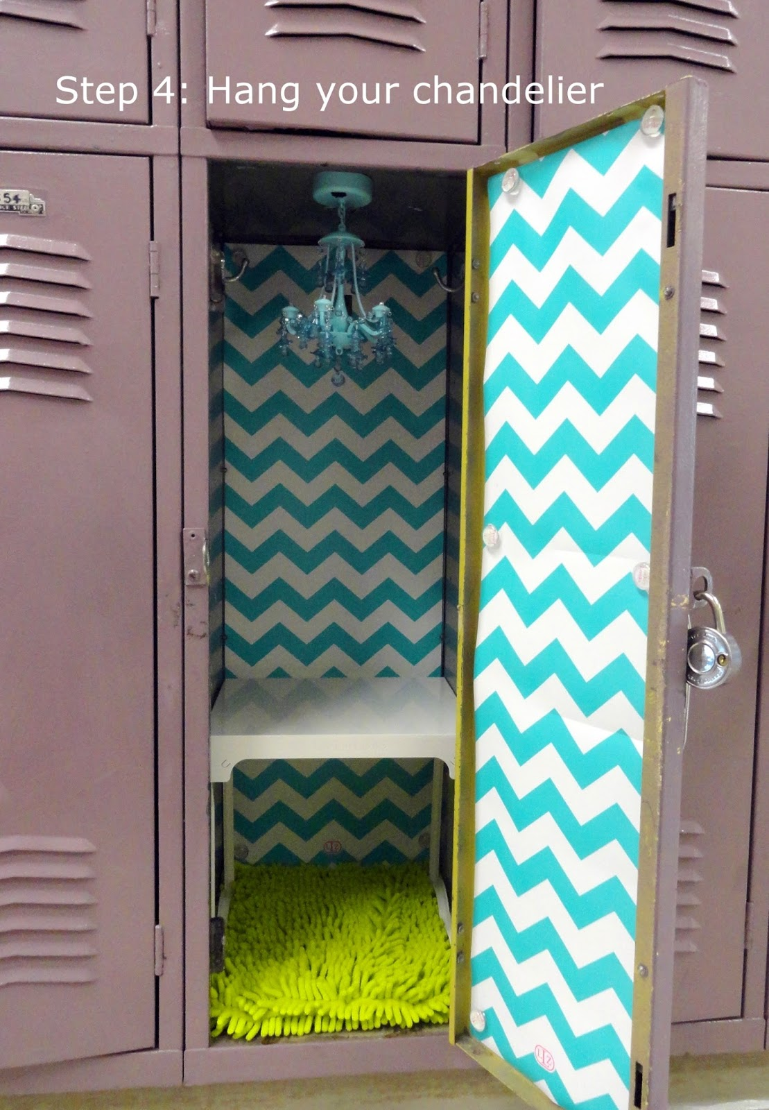 5 simple steps to decorating a fabulous locker with locker lookz it even has a motion sensor so it turns on and off when you open and close your locker aloadofball Image collections