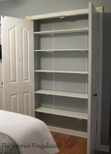 Installing adjustable shelving in Master bedroom closet expansion
