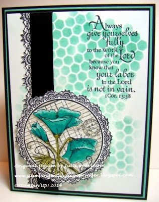 Our Daily Bread Designs, Crocheted Poppy Circle, Serve the Lord (retired), Crocheted Border Die, Crocheted Circle Die