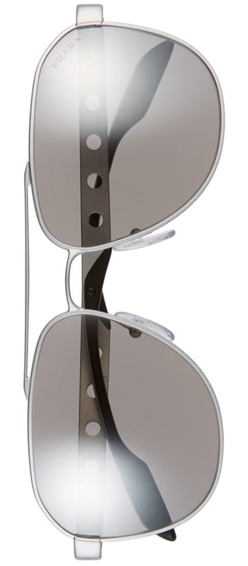 Prada 'Machine' 60mm Aviator Sunglasses