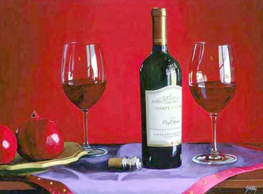Imágenes Arte Pinturas: Bodegones Con Botellas De Vino En