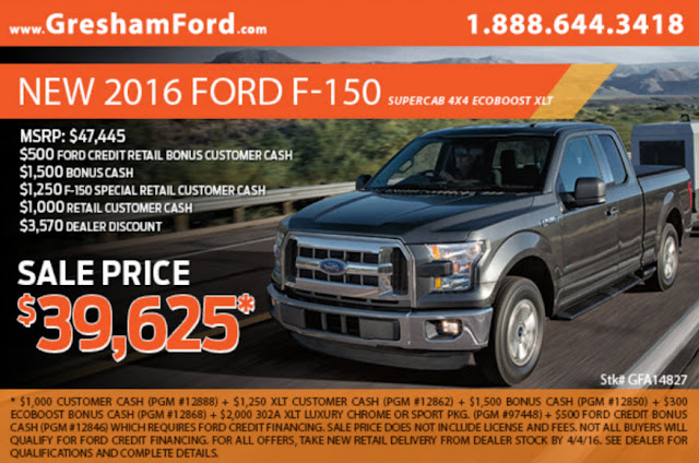 2016 Ford F-150 Specials