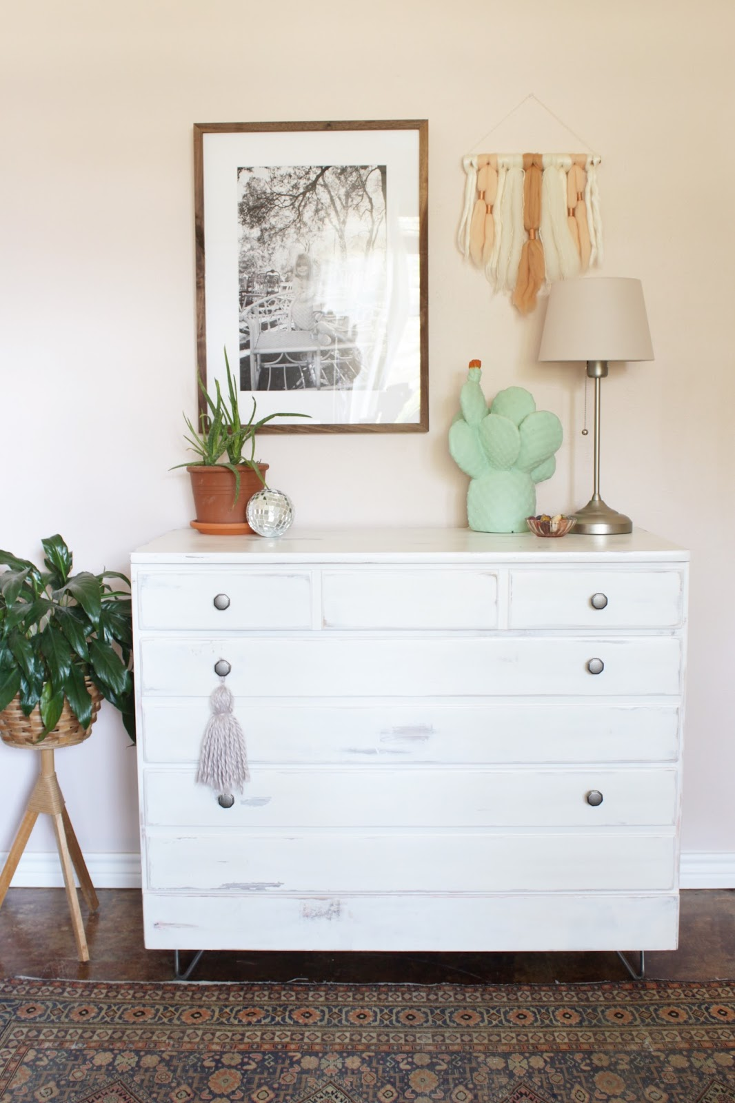 House Homemade:Hairpin leg dresser makeover