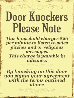 Door Knockers Very Funny Sign