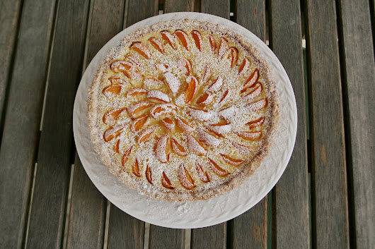 Pretty Pictures of a Summer Apricot Tart