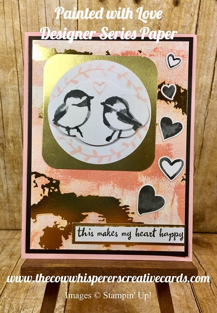 Painted with Love Designer Series Paper, Petal Palette, Stampin UP, Card
