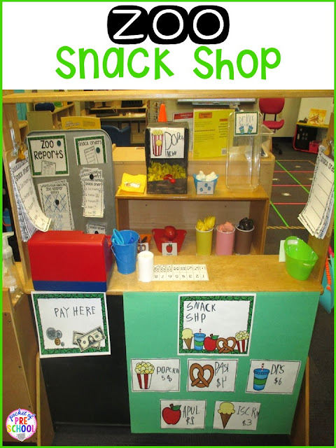 Zoo Dramatic Play! How to change the dramatic play center into a zoo and embed STEM and literacy into their play. Perfect for preschool, pre-k, and kindergarten.