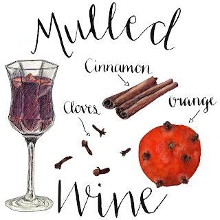 Mulled Wine drawing by Alice Draws The Line