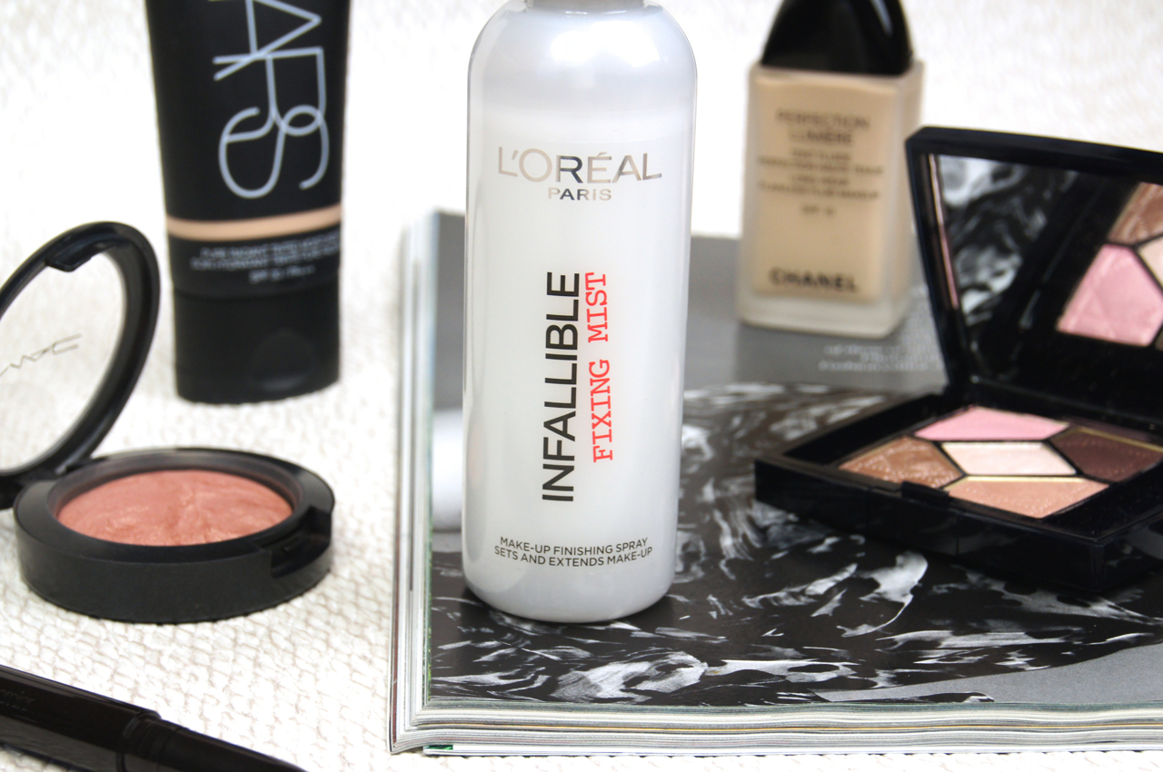 loreal infallible fixing mist setting spray review