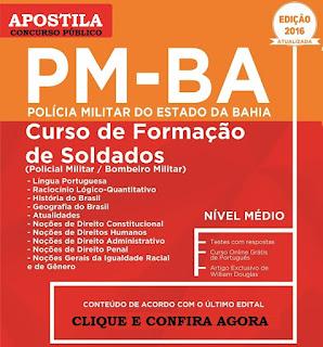 Apostila Concurso PM BA Soldado CFO (PMBA) Polícia Militar da Bahia 2016