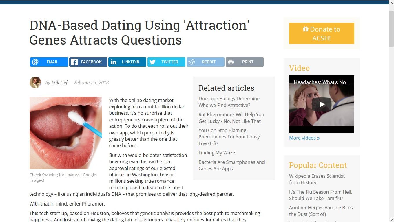 Dating-Website mit dna