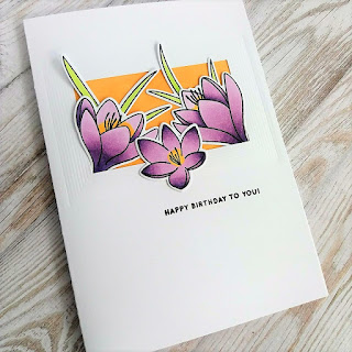 Cas card with the Crocus Flowers stamp set from Pretty Pink Posh