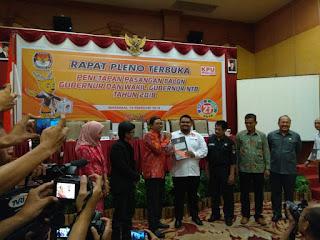 <b>KPU Tetapkan Empat Paslon Gubernur dan Wagub NTB, Hari Ini Pengambilan Nomor Urut</b>