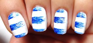 Blue Dry Brush Stripes