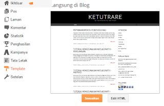 menu edit html pada dashboard blogger