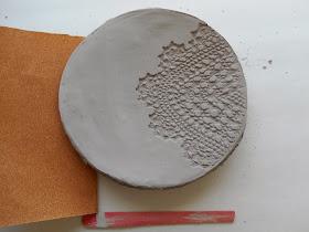 Air dry clay plate