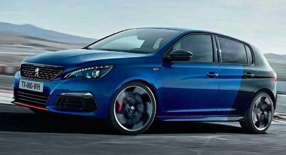 2018 peugeot 308 gti leaked showing facelifted hatch