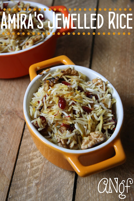 Amira's Jewelled Persian Rice with Pomegranates,Walnuts & Parsley from Anyonita Nibbles Gluten Free