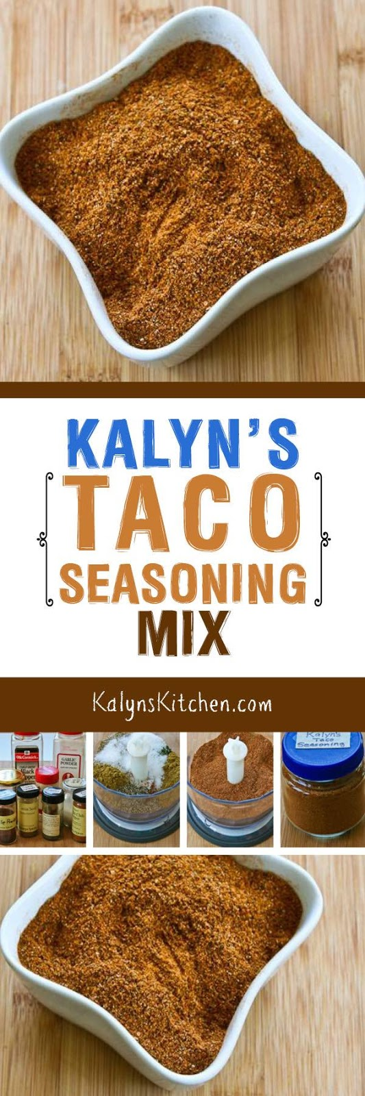 Kalyn's Kitchen®: Kalyn's Taco Seasoning Mix