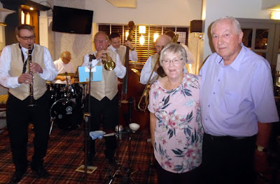 Picture: Brigg couple Joan and Keith Smith celebrating their 50th wedding anniversary in 2018 at the refurbished Lord Nelson Hotel in Brigg, with music from the Ancholme Jazz Band - see Nigel Fisher's Brigg Blog