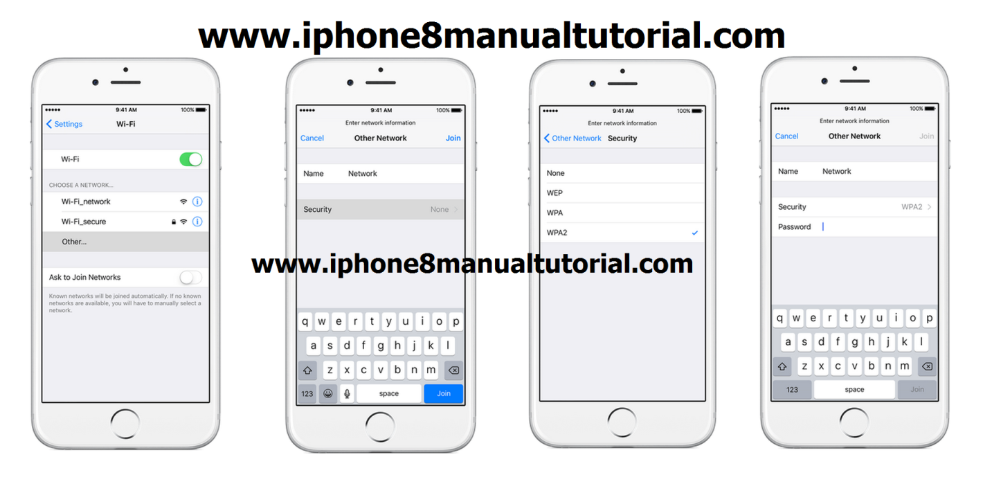 iphone join net work how to manualy connect