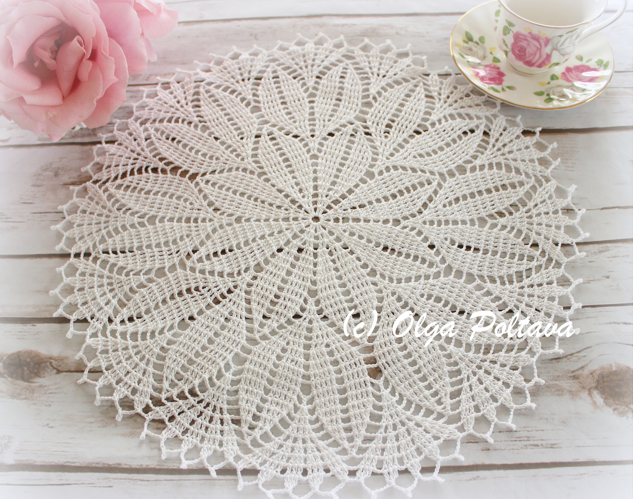 Lacy Crochet: Spring Leaves Doily, My New Design