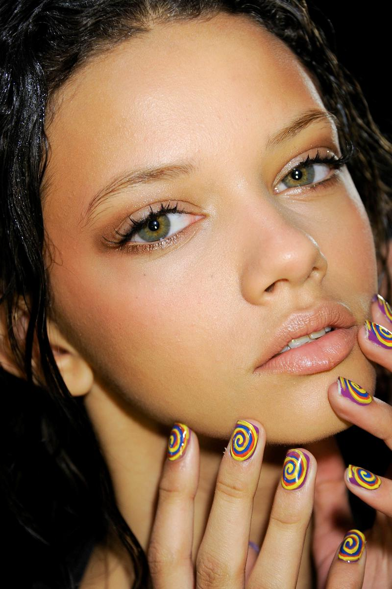 Fashion Nails By Steph: Time Machine Manicures At Nicole Miller F/W 2012 NYFW Show