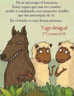 Resultado de imagen de Yugo desigual entre cristianos
