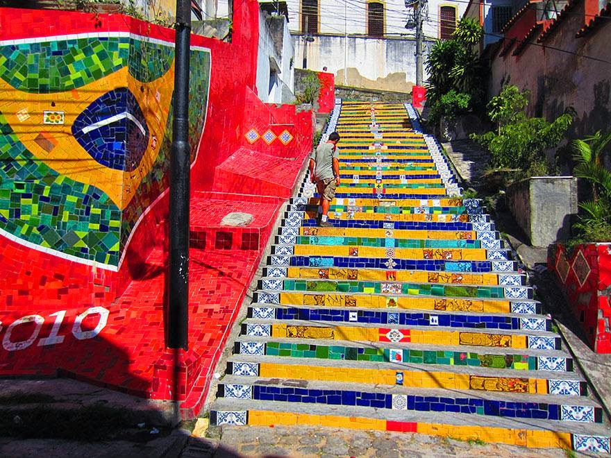 12.  Rio de Janerio - 17 Beautifully Painted Stairs From All Over The World. #7 Is Insane!