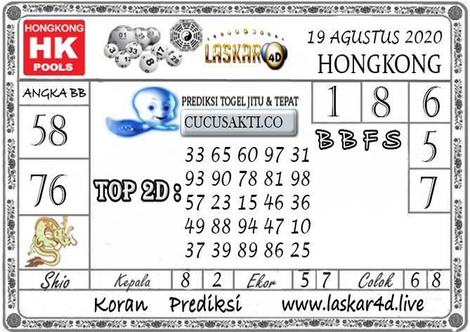 Prediksi Togel HONGKONG LASKAR4D 19 AGUSTUS 2020