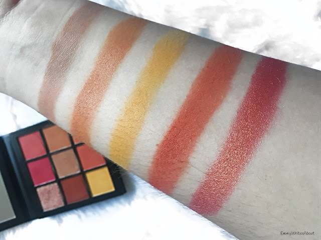 Huda Beauty Coral Obsessions Palette Swatches
