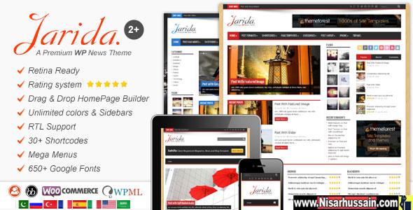 Jarida Premium Responsive WordPress Theme