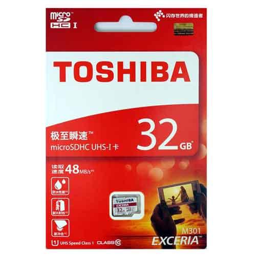 245k - Thẻ nhớ micro SD Toshiba 32Gb Class 10 chính hãng giá sỉ và lẻ rẻ nhất