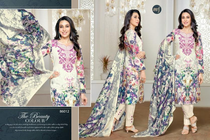 8b7053eec9 Essenza vol 8...pure cotton lawn suits with embroidery n pure chiffon  dupatta