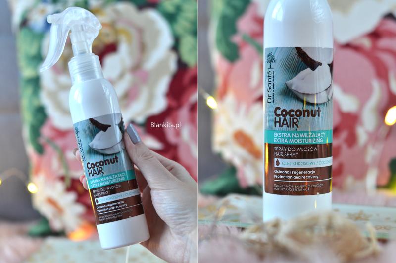 kokosowa odzywka do wlosow, odzywka kokosowa w sprayu, dr sante, coconut hair, spray do wlosow