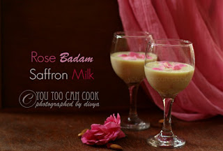 Rose Kungumapoo Paal | Drink For Pregnant Women | Safrron Almond Rose Milk | Kungumapoo Badam Paal