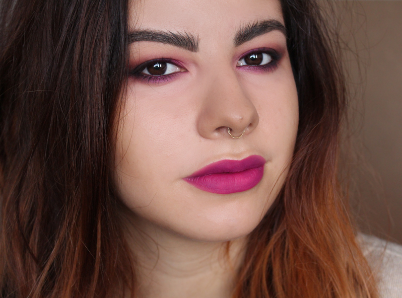 sleek matte me liquid lipstick lip cream review swatches fandango purple